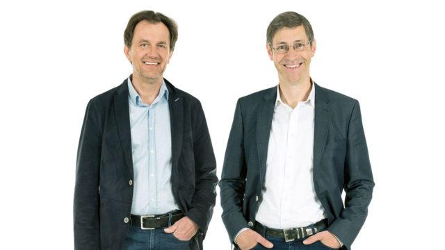 Geschäftsführung Herr Ingenieur Hierzer und Herr Magister Rybar