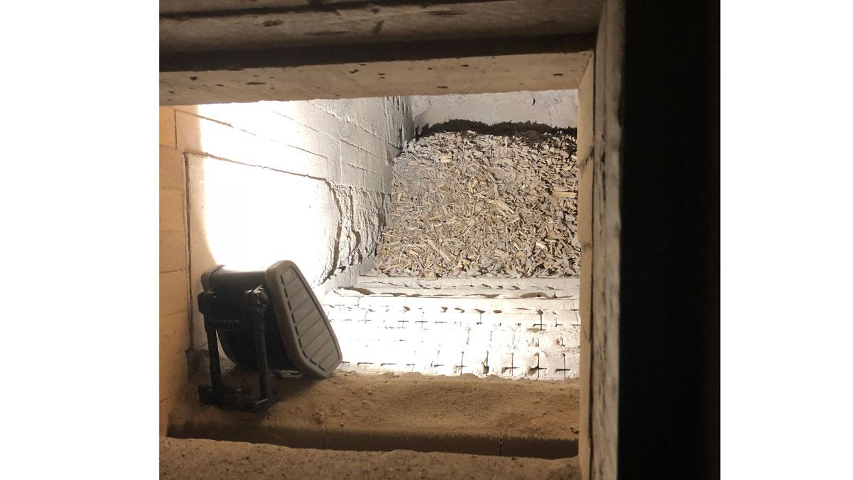 Blick in den Biomasse-Kessel