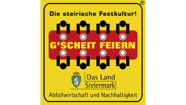 Logo G'scheit feiern