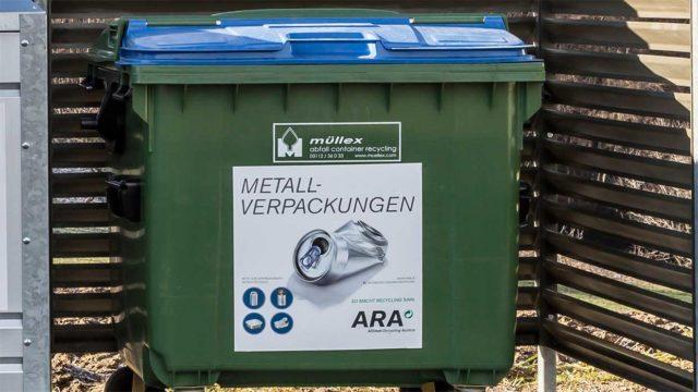 Tonne für Metallverpackungen